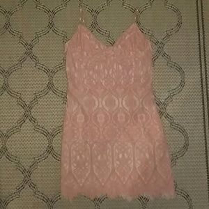 NWOT Express Peach Lace Dress L